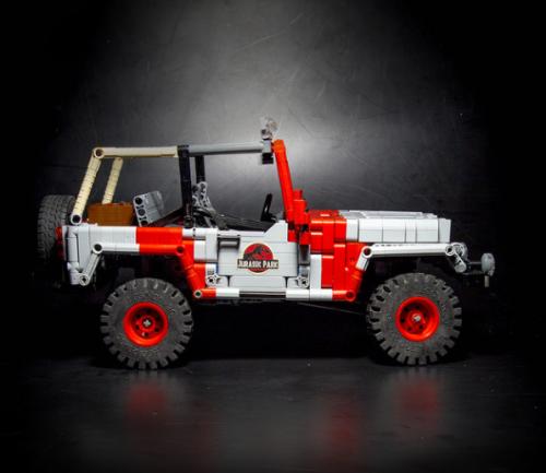 Lego Jurassic Park Jeep Wrangler RC
