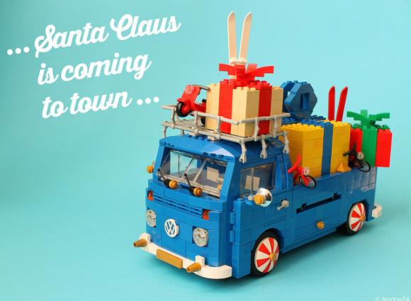 Lego VW Transporter Christmas