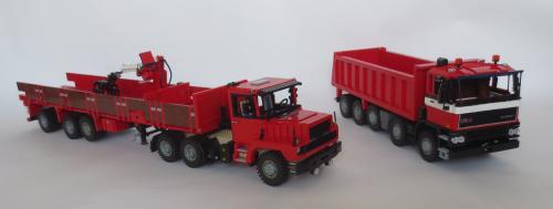 Lego DAF N2800 and GINAF F530 10X4