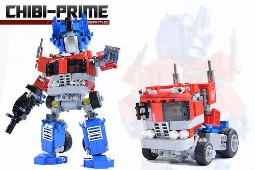 Lego Chibi Optimus Prime Transformers