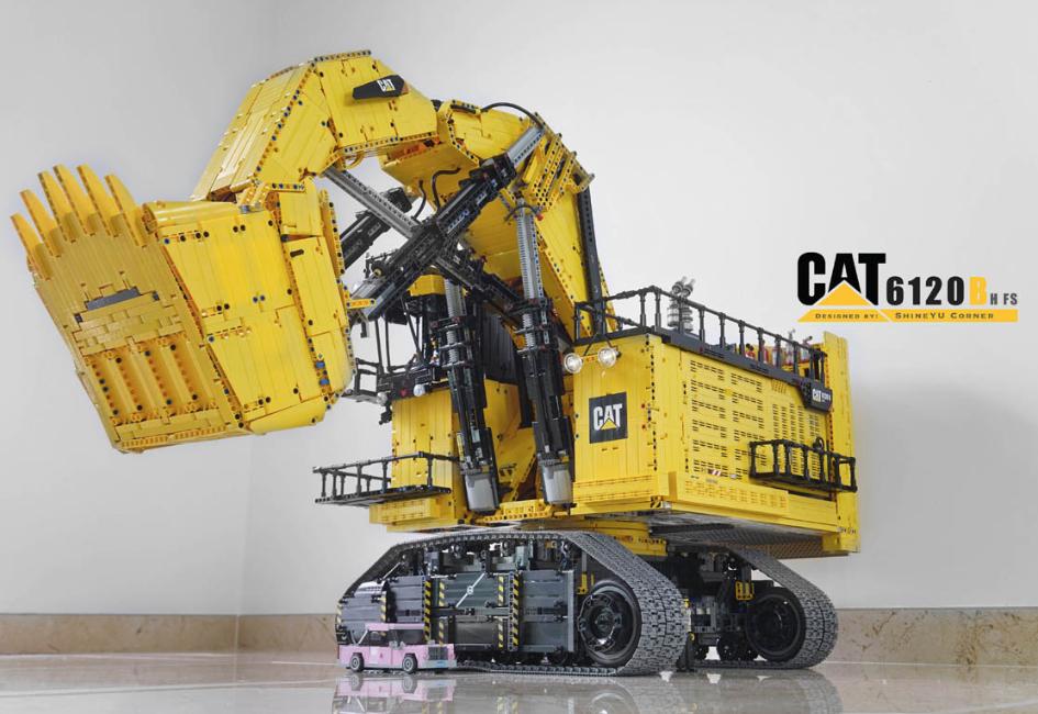 lego technic caterpillar 6120b mining shovel rc the lego car blog. Black Bedroom Furniture Sets. Home Design Ideas