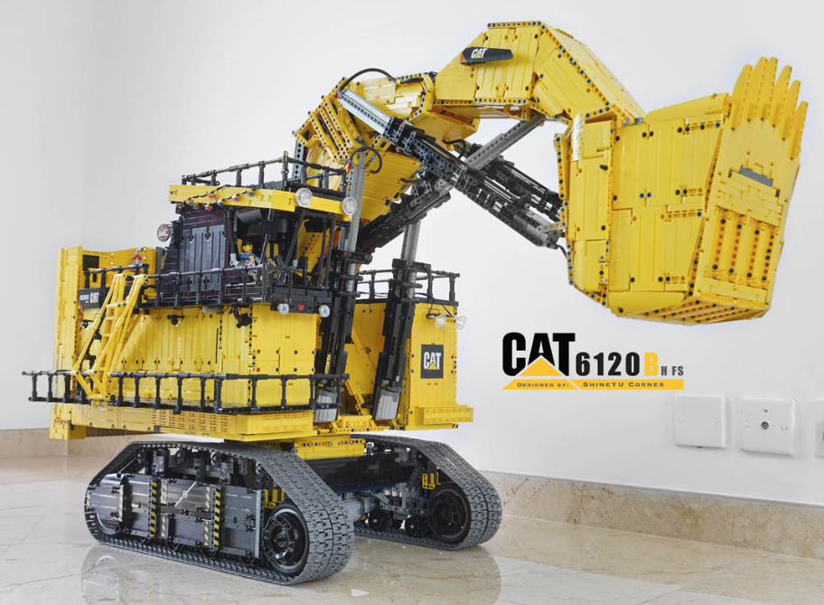 lego technic caterpillar 6120b mining shovel rc the lego. Black Bedroom Furniture Sets. Home Design Ideas