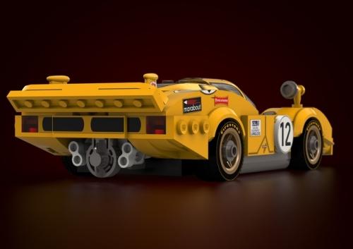 Lego Ferrari 512 Longtail 1970 Le Mans
