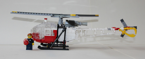 Lego Aérospatiale SA-315 Lama Air Zermatt Swiss mountain rescue service