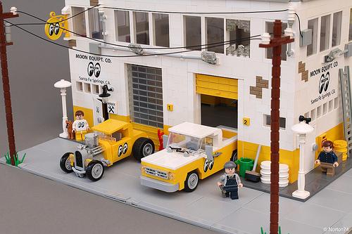 Lego Mooneyes Hot Rod Garage The Lego Car Blog