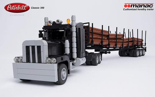 Lego Peterbilt 389 Forestry Truck