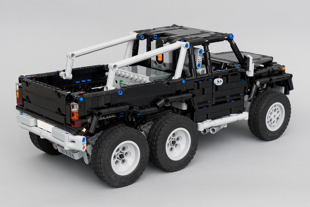 lego technic mercedes benz 6 6 rc the lego car blog. Black Bedroom Furniture Sets. Home Design Ideas
