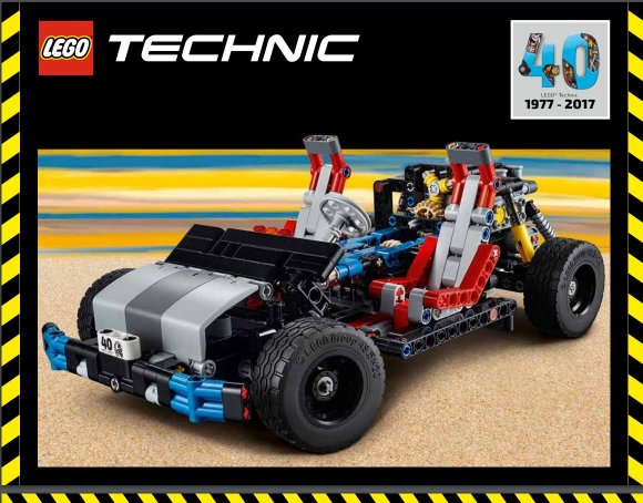 Lego Technic 40th Anniversary Car Chassis