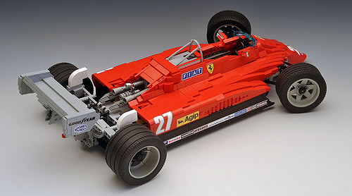 Lego Ferrari 126C F1 Car Villeneuve