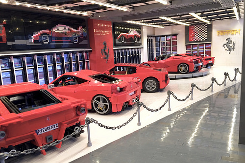 Huge Lego Ferrari Dealership