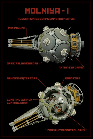 Lego Soviet Spaceship
