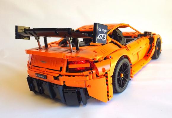 lego technic aston martin vantage gt3 the lego car blog. Black Bedroom Furniture Sets. Home Design Ideas