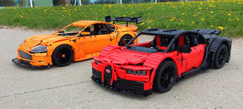 Lego Technic Bugatti Chiron Aston Martin Vantage GT3