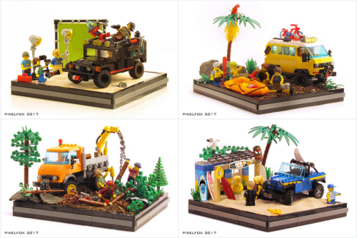Lego Town Cars
