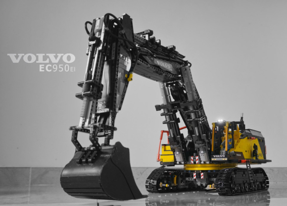 lego technic volvo ec950el excavator remote control the. Black Bedroom Furniture Sets. Home Design Ideas