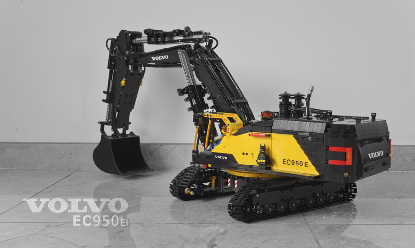 lego technic volvo ec950el excavator rc the lego car blog. Black Bedroom Furniture Sets. Home Design Ideas