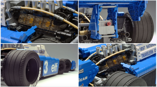 Lego Tyrrell P34 6-Wheel F1 Car