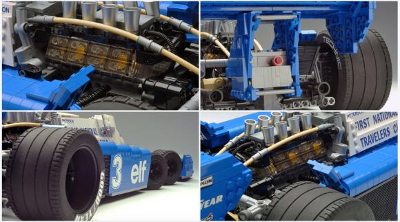 Lego Tyrrell P34 6-Wheel F1 Car