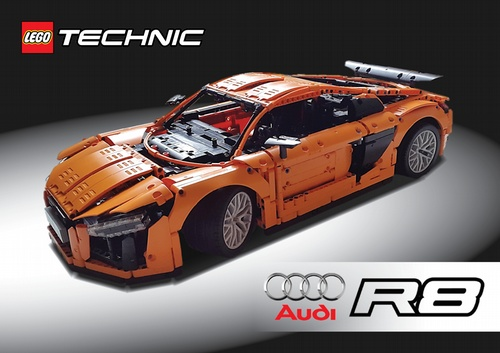 Lego Technic Audi R8 V10 Plus