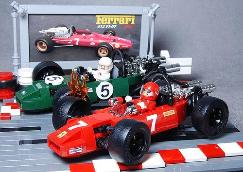Lego Ferrari 312 & Brabham BT24 Formula 1 1967