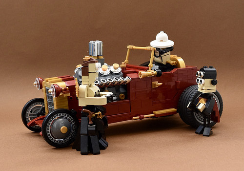 Lego Steampunk Hot Rod