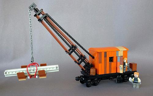 Lego Crane Train