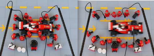 Lego Scuderia Ferrari F1 Pit Stop