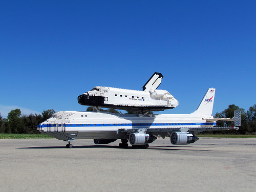 lego space shuttle and plane - photo #36