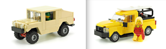 Lego Humvee & Baywatch Pick-Up