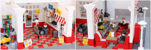Lego Art Déco Gas Station