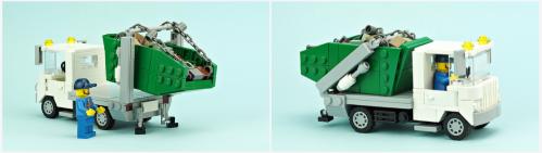 Lego Town Skip Lorry