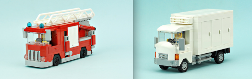 Lego Fire Truck and Ice Truck
