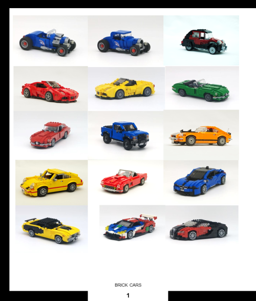 Lego Brick Built Cars