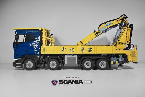Lego Scania R560 Crane Truck RC