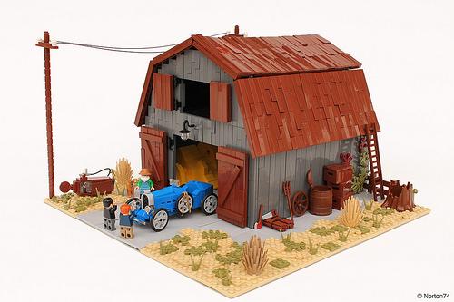 Lego Barn Find Bugatti Type 35 Grand Prix