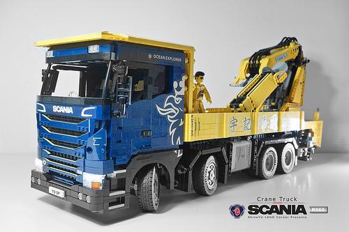Lego Scania R560 Crane Truck