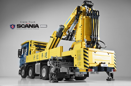 lego scania r560 crane truck rc the lego car blog. Black Bedroom Furniture Sets. Home Design Ideas