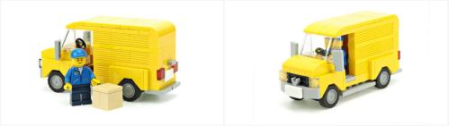 Lego Town Delivery Van