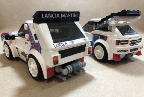 Lego Lancia Delta Peugeot 205 T16 Group B