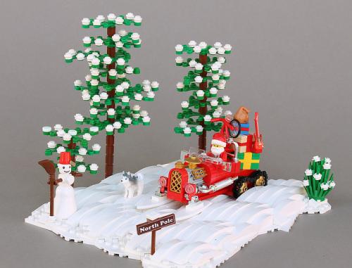 Lego Santa Hot Rod