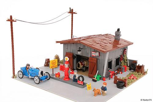 Lego Gas Station 1920s Bugatti