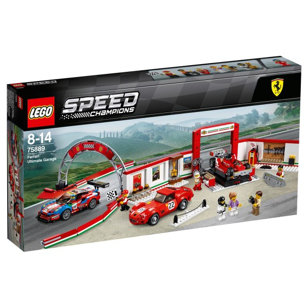 lego 75889 speed champions ferrari ultimate garage the lego car blog. Black Bedroom Furniture Sets. Home Design Ideas