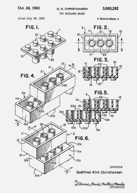 Lego Brick Patent
