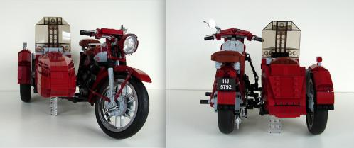 Lego Nimbus Motorbike & Sidecar