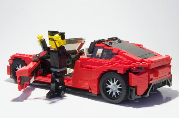 Lego Tesla Roadster