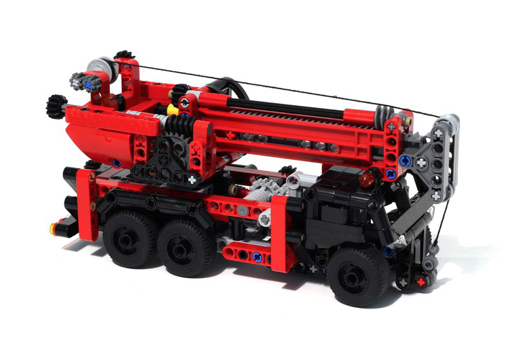 lego technic mobile crane the lego car blog. Black Bedroom Furniture Sets. Home Design Ideas
