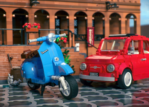 Lego Vespa & Fiat 500