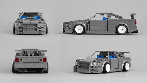 Lego Nissan R34 Skyline GTR
