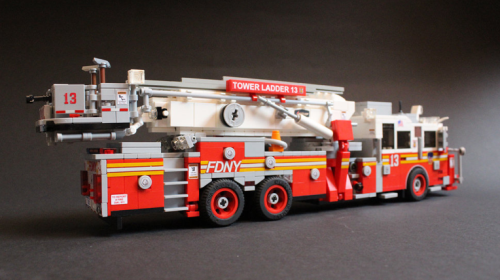 Lego Seagrave Marauder II/Aerialscope Fire Truck