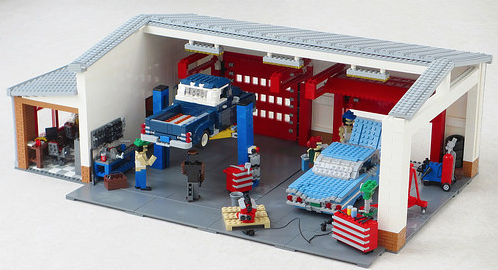 Lego Classic Car Garage The Lego Car Blog